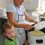 Schafkäse Produktion mit Famiie Lohninger