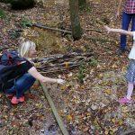 Staudamm bauen Urlaub am Bauernhof Löschgruberhof Mühlviertel