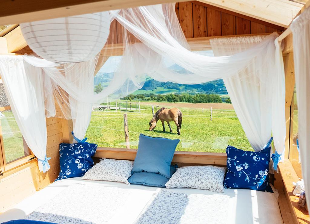 Outdoor-Schlafvariante für Verliebte, Sternengucker und Abenteurer