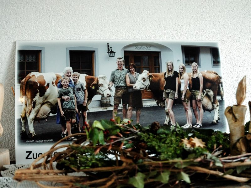 Familienfoto der Rebhandls Urlaub am Bauernhof